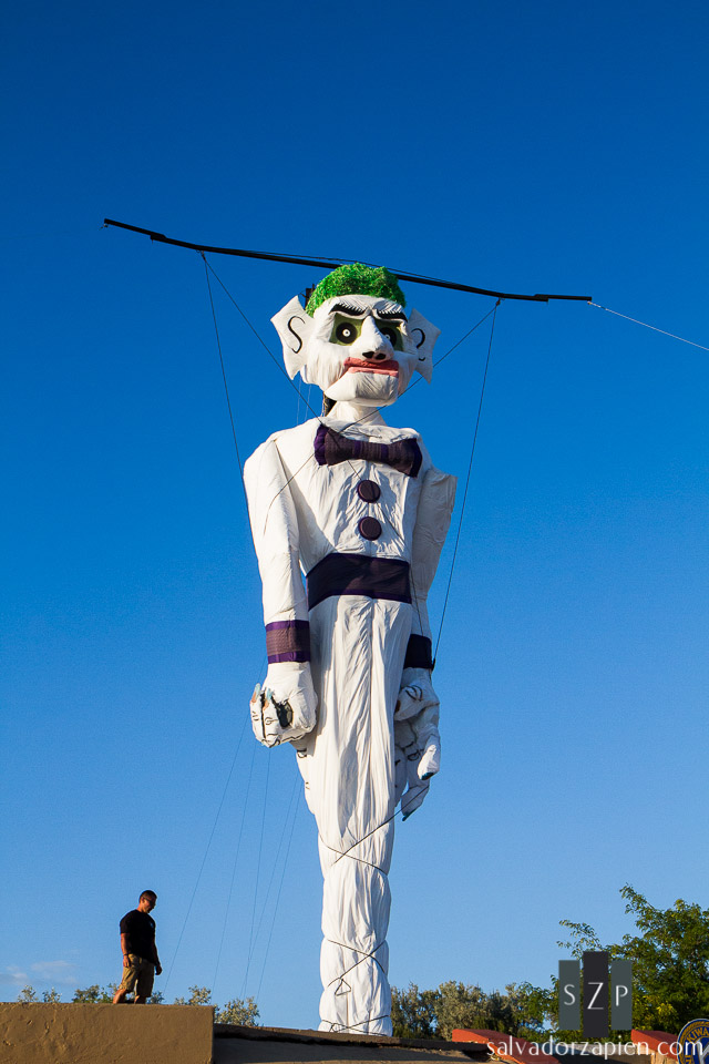 The 50 foot, two inch effigy of Old Man Gloom towers over Fort Marcy Park.
